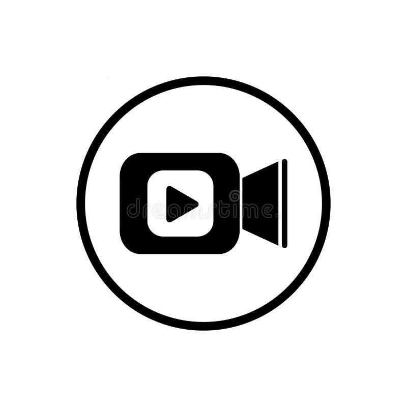 Kamera wideo ikona w mieszkanie stylu Film sztuki wektorowa ilustracja na bia?ym odosobnionym tle Wideo leje si? biznes royalty ilustracja