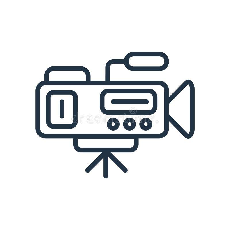 Kamera wideo ikony wektor odizolowywający na białym tle, kamera wideo znak royalty ilustracja