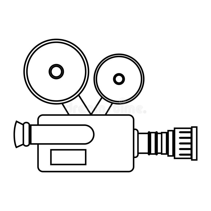Kamera wideo kina ikona royalty ilustracja
