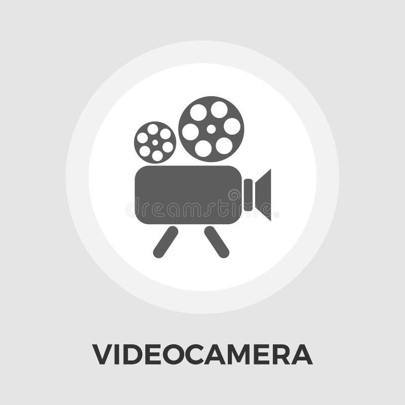 Kamera wideo mieszkania ikona royalty ilustracja