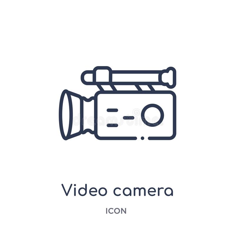 kamera wideo od bocznego widoku ikony od bocznego widoku ikony od interfejs użytkownika konturu kolekcji Cienieje kreskowego kame ilustracji