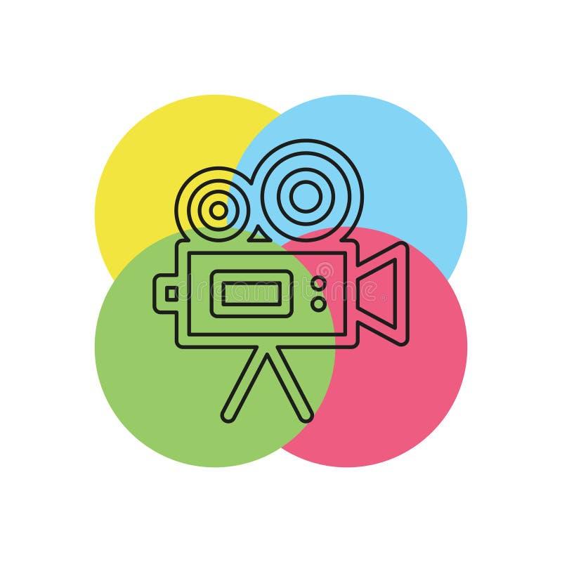 Kamera wideo wektoru ikona ilustracja wektor