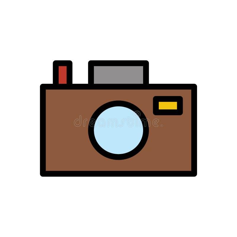 Kamera wizerunku lata logo wektorowa ikona lub ilustracja Editable kolor i uderzenie Doskonali? u?ywa dla wzoru i projekta grafik royalty ilustracja