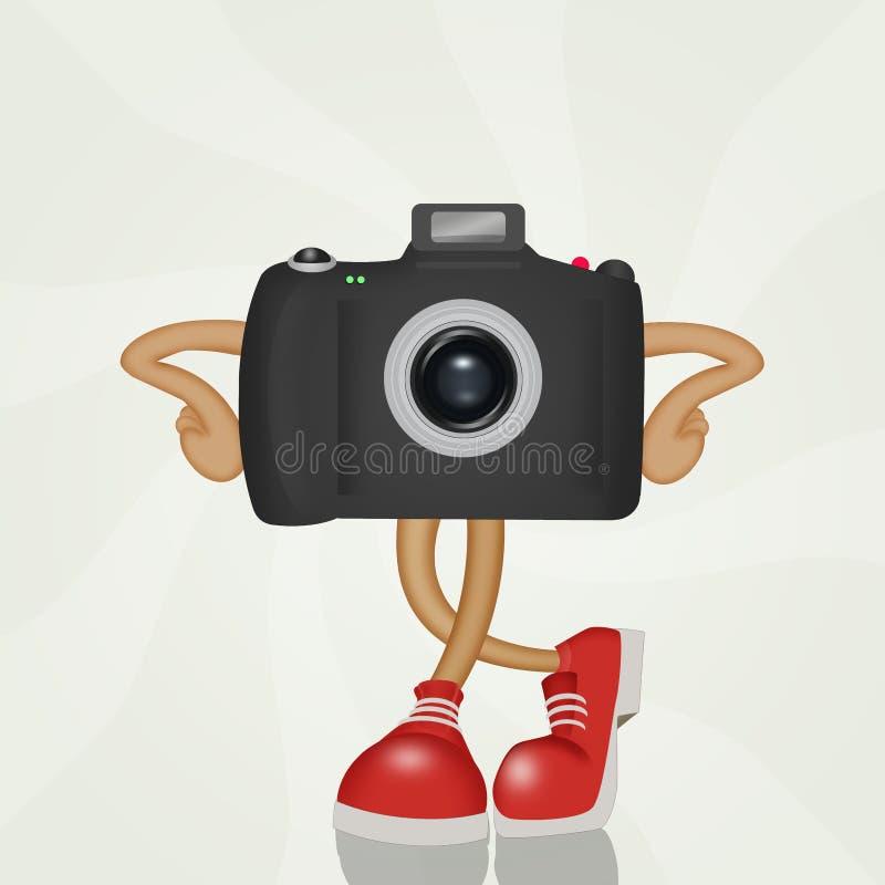 Kamera z śmiesznymi butami ilustracja wektor