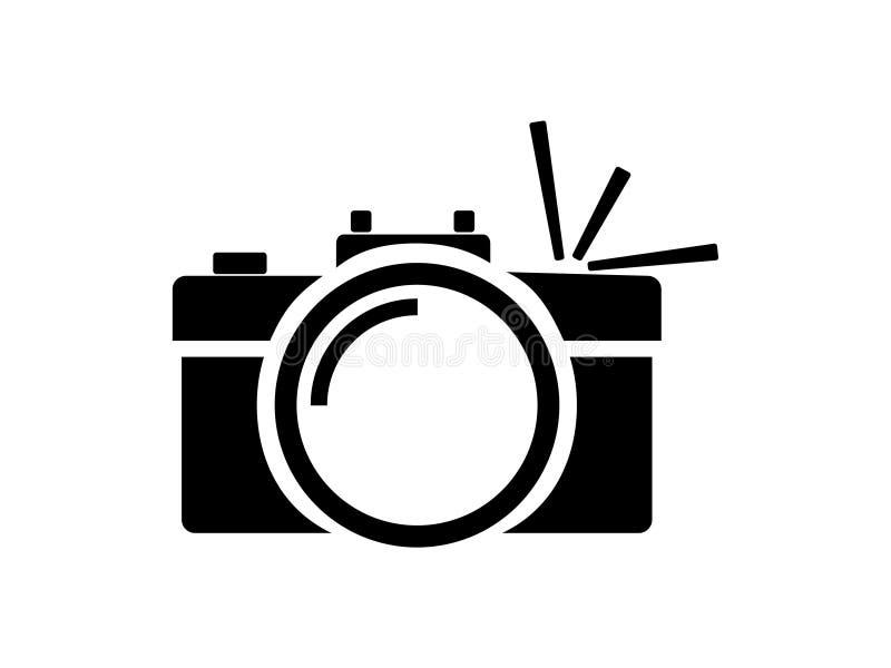 Kamera z błyskiem ilustracji