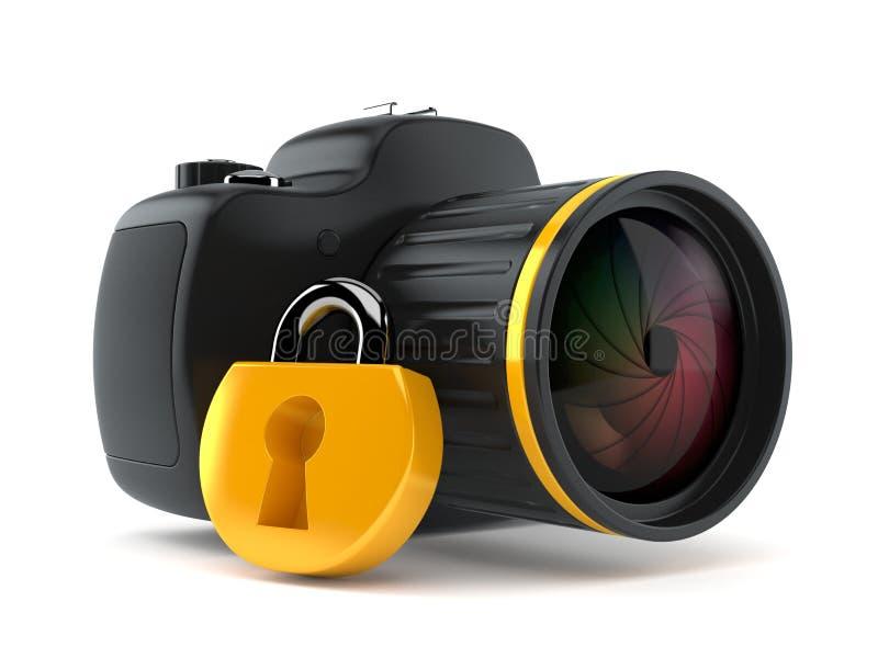Kamera z kłódką ilustracja wektor