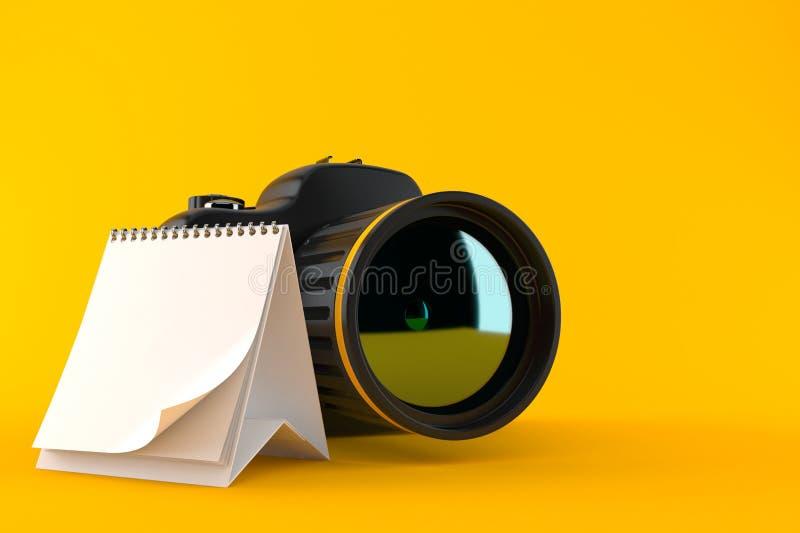 Kamera z puste miejsce kalendarzem ilustracji