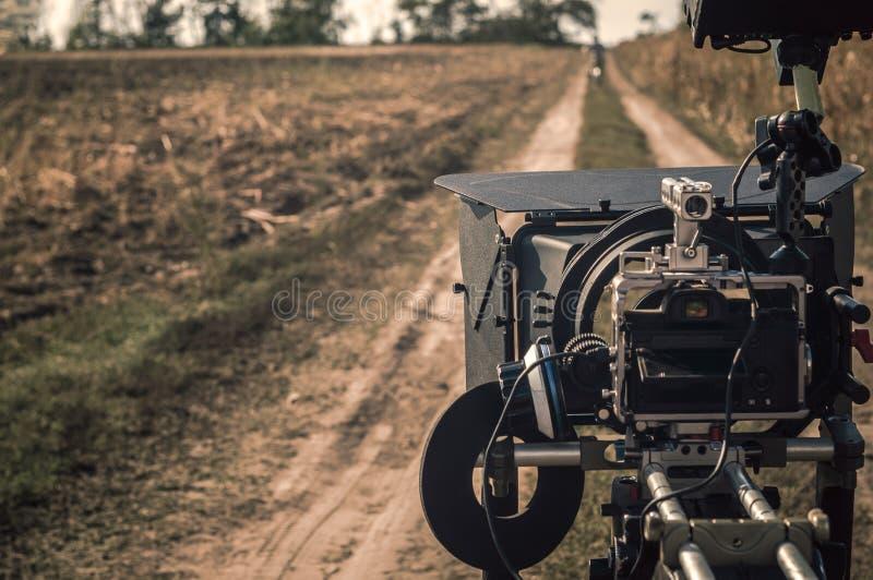 Kameraanlage draußen filmen lizenzfreie stockfotos