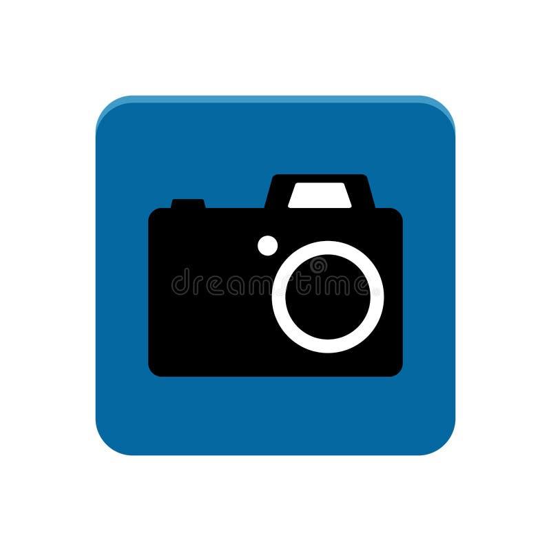 Kameraapp-knapp stock illustrationer