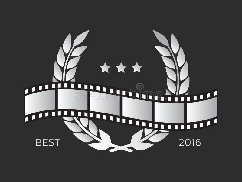 Kamerafilm 35 des Rollenmillimeter goldes, Festivalfilmplakat lizenzfreie abbildung