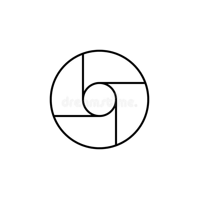 Kamerafokussymbol Beståndsdel av den enkla symbolen för websites, rengöringsdukdesign, mobil app, informationsdiagram Tunn linje  stock illustrationer