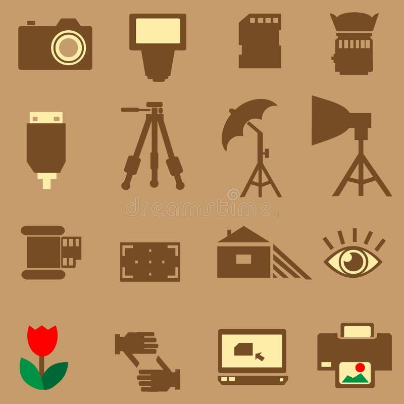 Kamerafotoikone lizenzfreies stockfoto