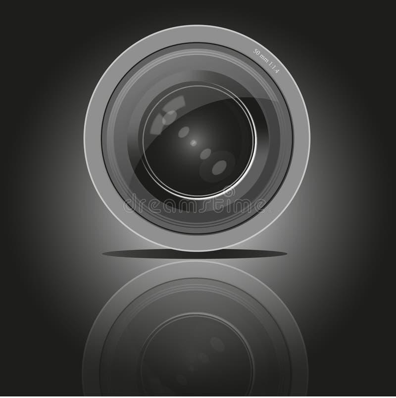 Kamerafotolins, vektor vektor illustrationer