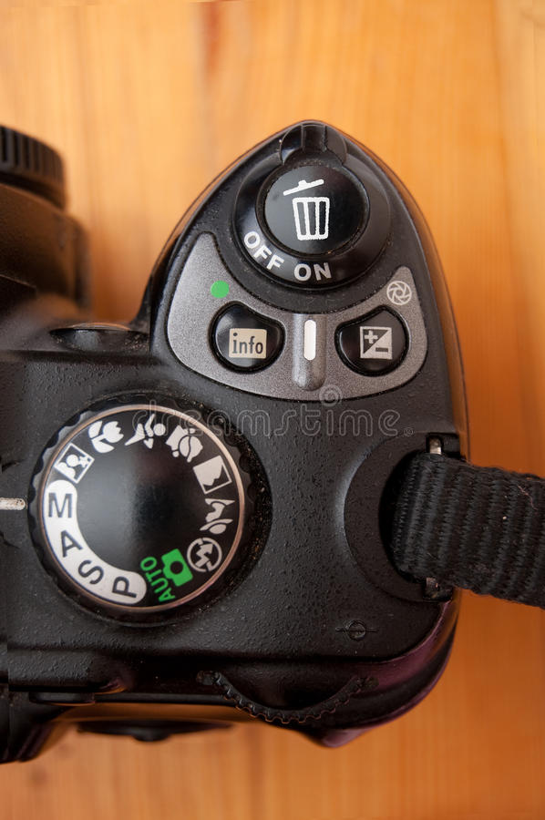kameragyckel royaltyfri fotografi