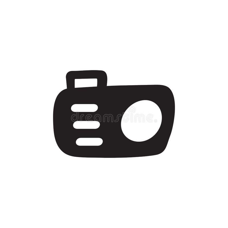 Kameraikon i Flat Style Vector for Apps, UI, Webbplatser Illustration av svart ikon vektor illustrationer