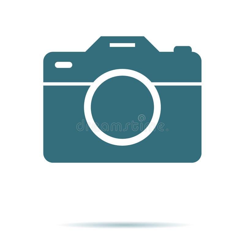 Kameraikone, flacher Fotovektor lokalisiert Modernes einfaches Schnappschussphotographiezeichen Sofortiges modisches sym stock abbildung