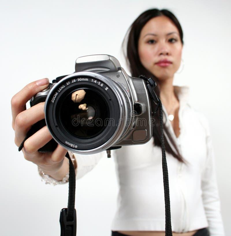 kamerakvinna arkivfoto