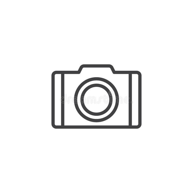 Kameralinie Ikone stock abbildung