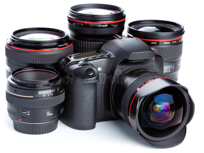 kameralinser royaltyfria foton