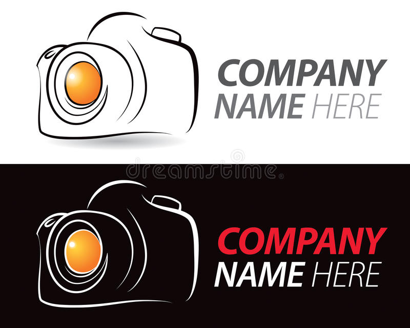 Kameralogo royaltyfri illustrationer