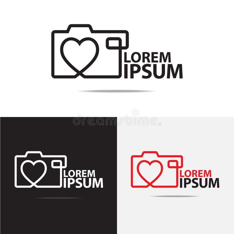 Kameralogodesign stockbild