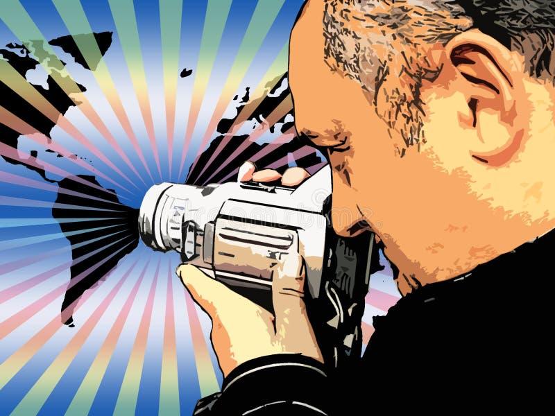 kameraman vektor illustrationer