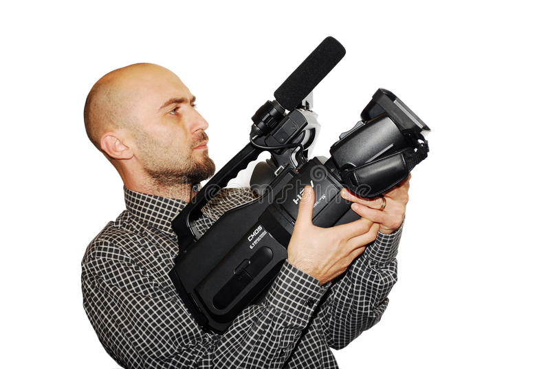 Kameramann lizenzfreie stockbilder