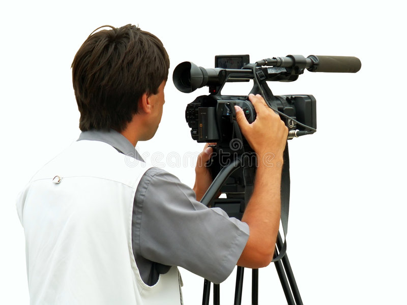Kameramann stockfotografie