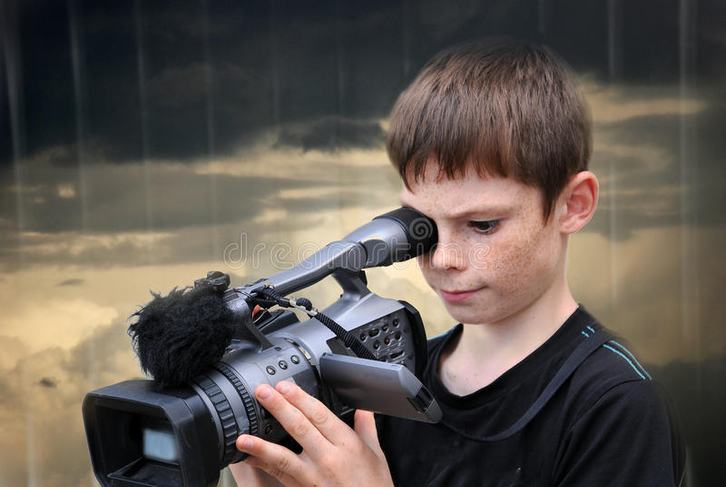 kameramann lizenzfreie stockfotografie