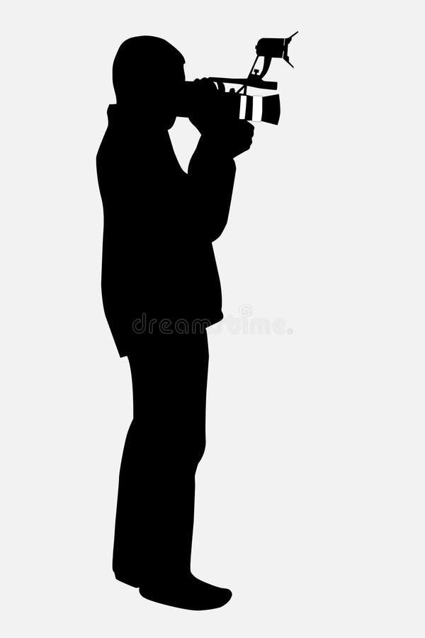 Kameramann lizenzfreie abbildung