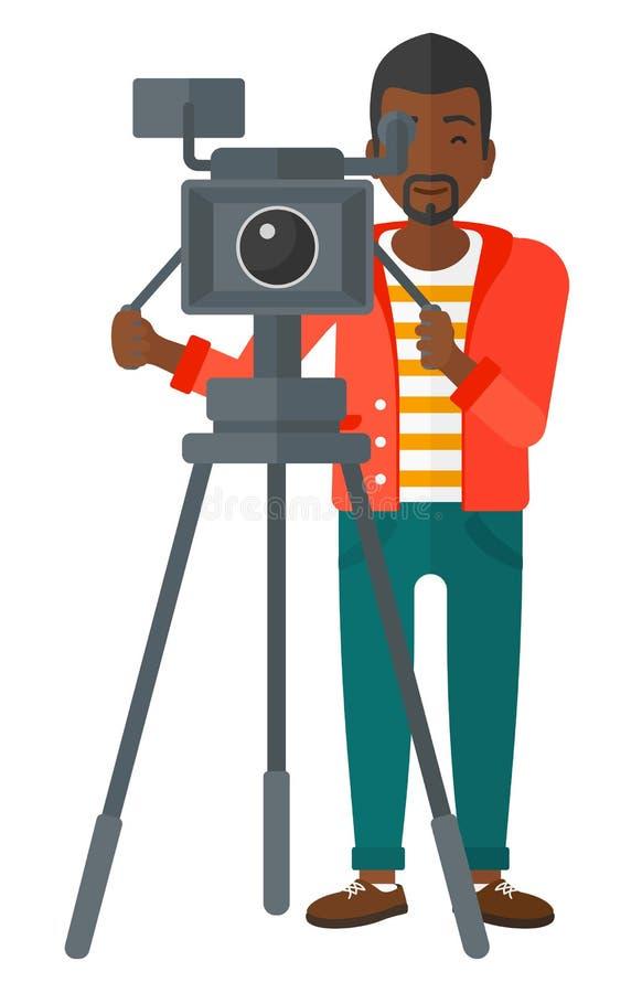Kameramann mit Filmkamera vektor abbildung