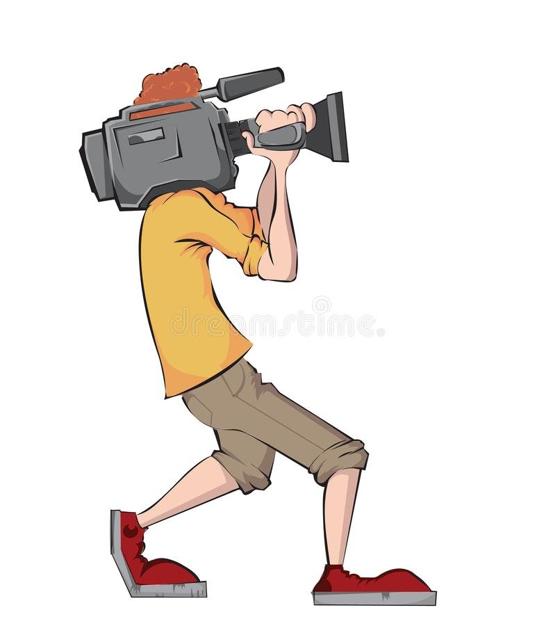 Kameramann mit Videokamera stock abbildung
