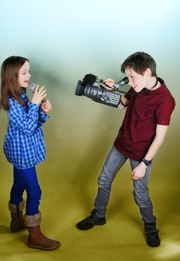 Kameramann und Sänger lizenzfreies stockfoto