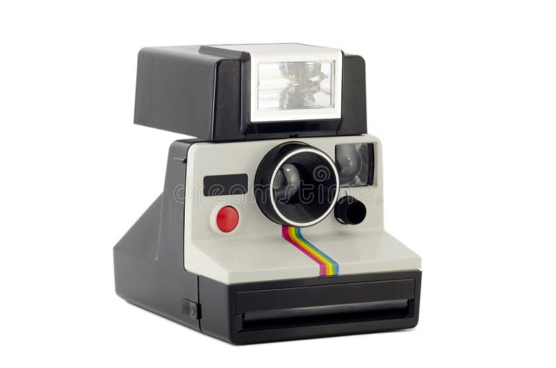 kameran isolerade gammal polaroidwhite fotografering för bildbyråer
