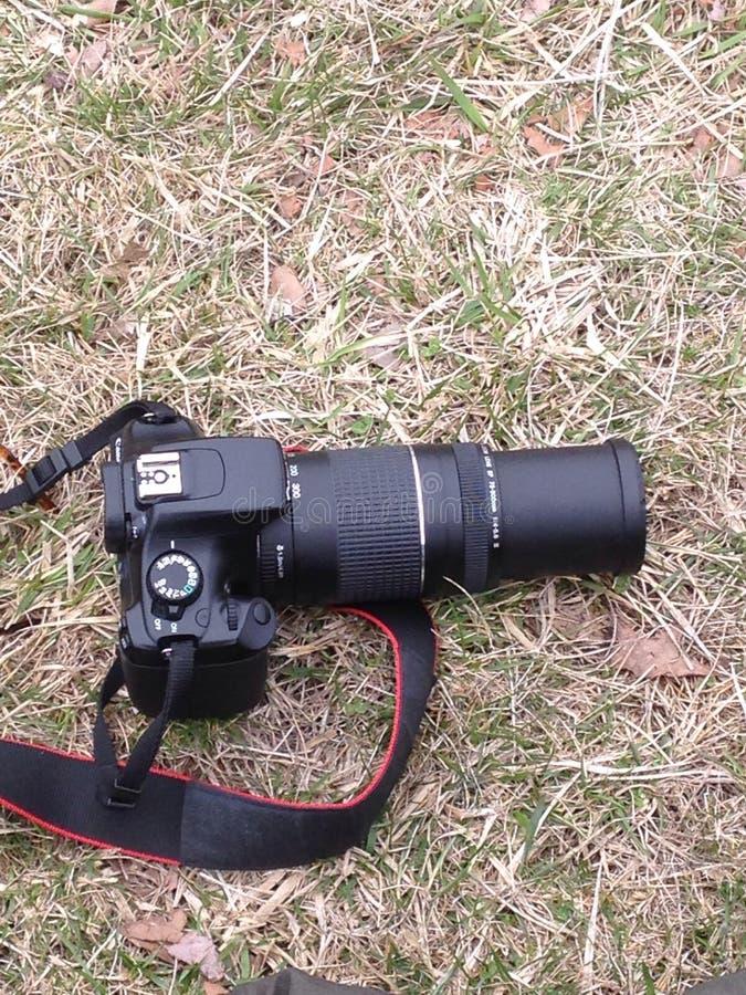 Kameran på vilar royaltyfri fotografi