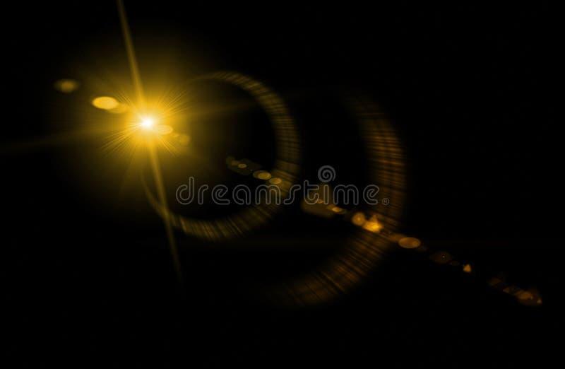 Kameraobjektiv mit lense Reflexionen lizenzfreie stockfotos