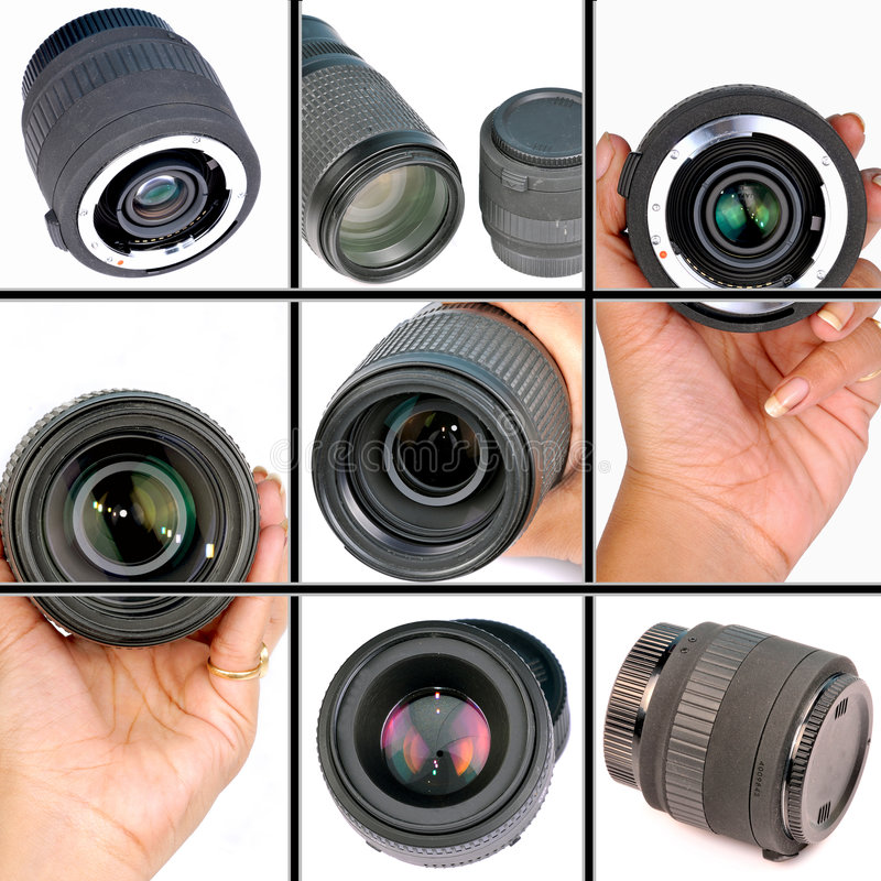 Kameraobjektive stockbild