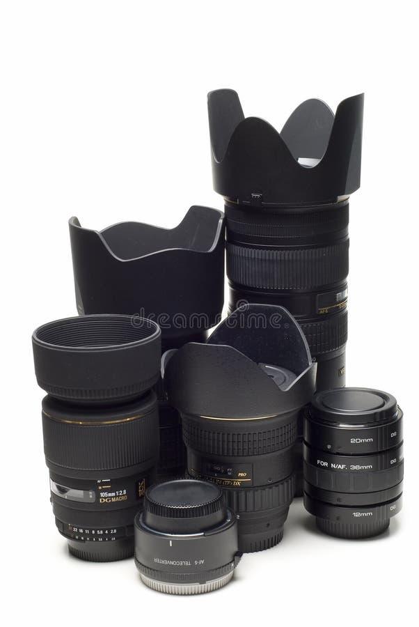 Kameraobjektive und Umformer. lizenzfreie stockbilder