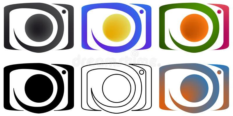 Kameraphotographie Logofirmenzeichen Design für die Firma Vektor Eps10 vektor abbildung