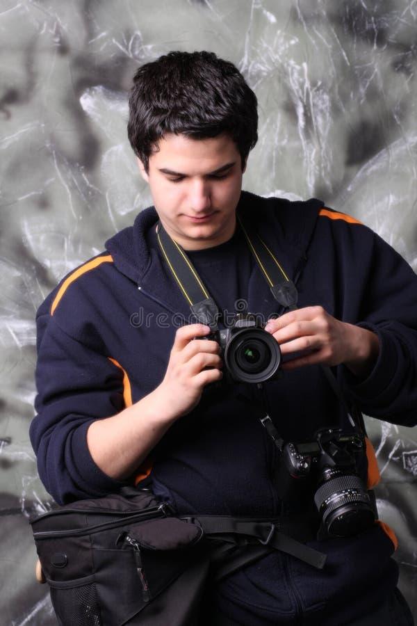 kameraphotojournalist två royaltyfria foton