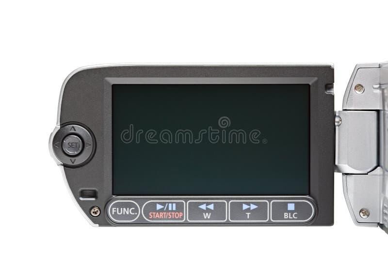 Kamerarecorder LCD-Menü getrennt stockbilder