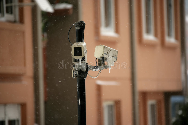 kamerasäkerhet royaltyfri bild