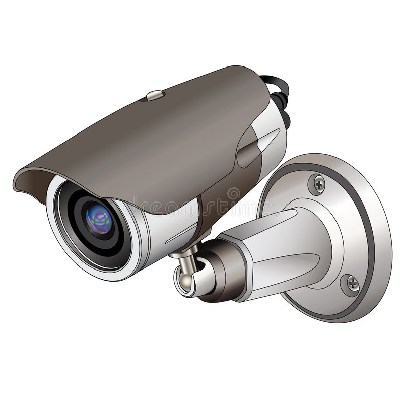 kamerasäkerhet vektor illustrationer