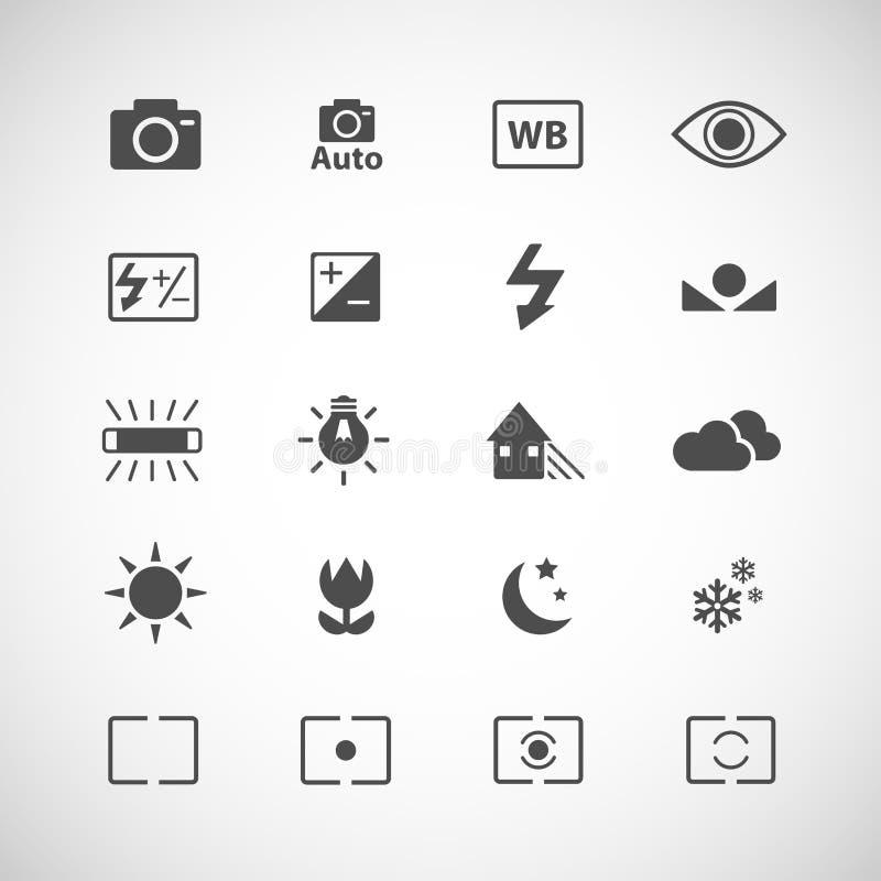 Kamerasymbolsuppsättning, vektor eps10 royaltyfri illustrationer