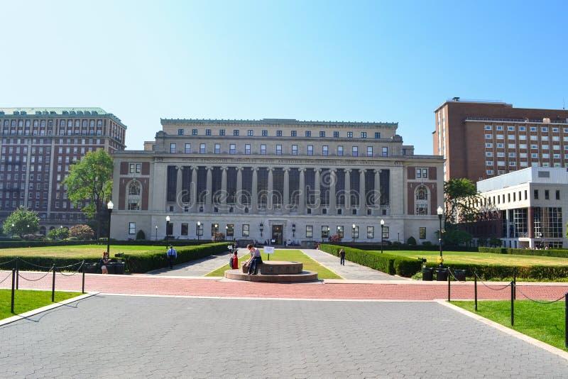 Kamerdynerski Biblioteczny uniwersytet columbia Nowy Jork fotografia royalty free