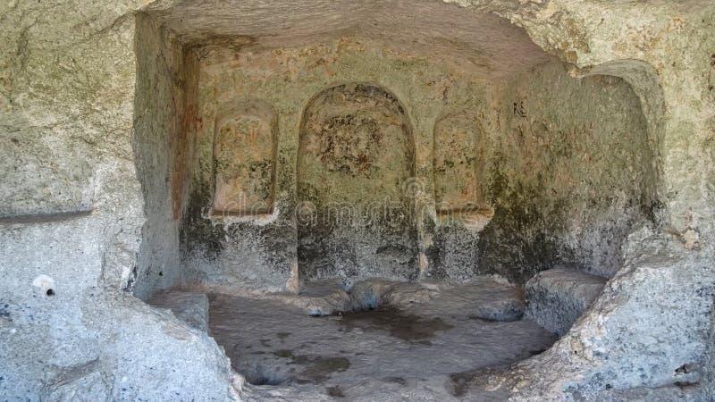 Kamergraven van pantalica in Sortino in Sicilië stock fotografie