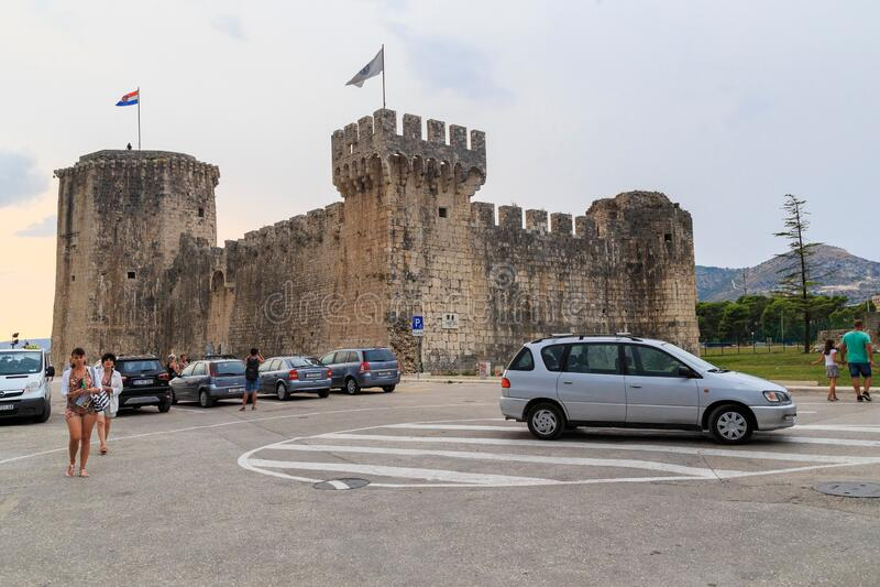 Kamerlengo Castle, Trogir, Kroatië royalty-vrije stock foto's