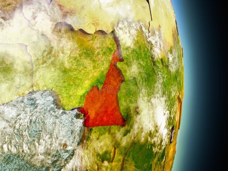 Kameroen in rood van ruimte royalty-vrije illustratie