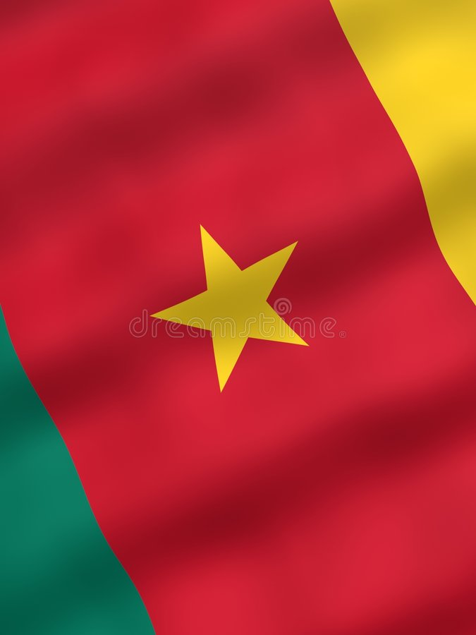 kamerun flagę
