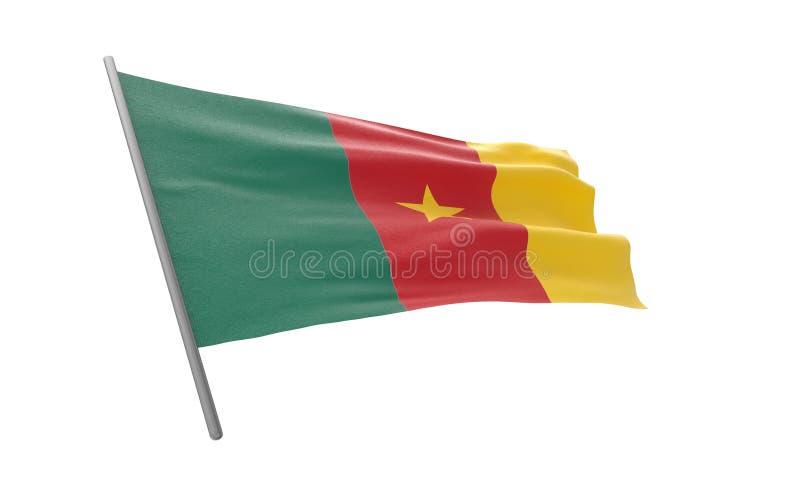 kamerun flag? royalty ilustracja